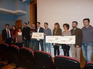 Premiados, miembros del jurado presentes y director de AEXCID